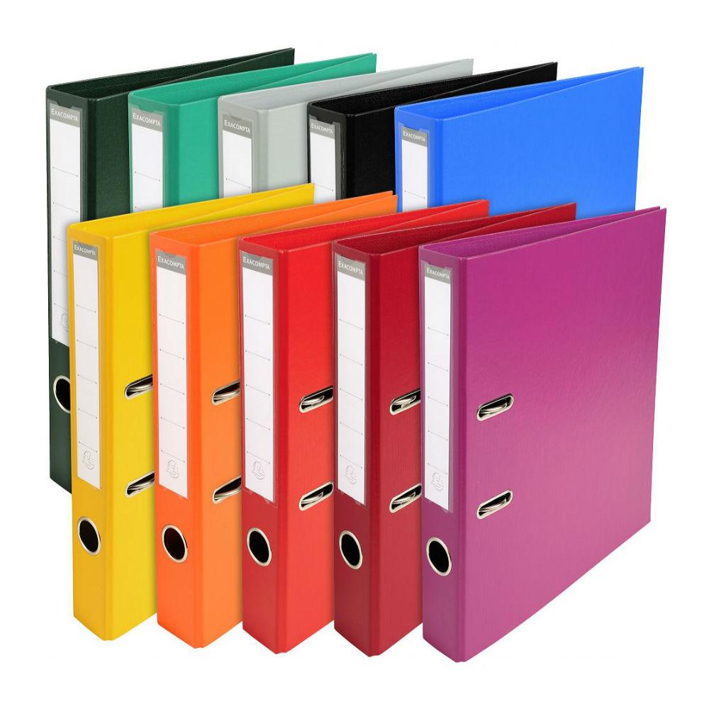 Classeur levier a4 plastique couleur papeterie colbert for Papeterie de bureau