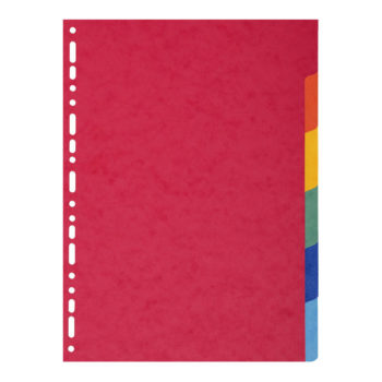intercalaires 6p A4 carte lustrée papeterie colbert