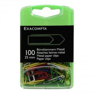 attaches lettres metal couleurs par 100 30mm papeterie colbert