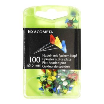boite epingles à tête plate par100 papeterie colbert