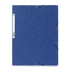 chemise à elastique carton bleu papeterie colbert