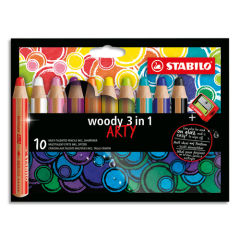 STABILO-Etui-carton-10-Crayons-couleur-Woody-3en1-ARTY–mine-extra-large-10-mm