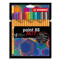 STABILO-Etui-carton-18-Stylos-feutres-Point-88-ARTY–pointe-fine-grainee-de