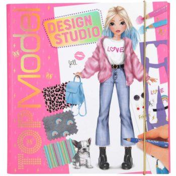 album-design-studio-crea-la-tua-top-model-da-colorare-set-creativo-copertina-rigida-con-elastico